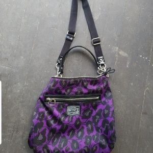 Coach ocelot purse